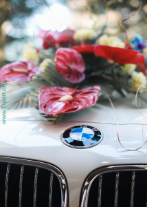 BMW flower art